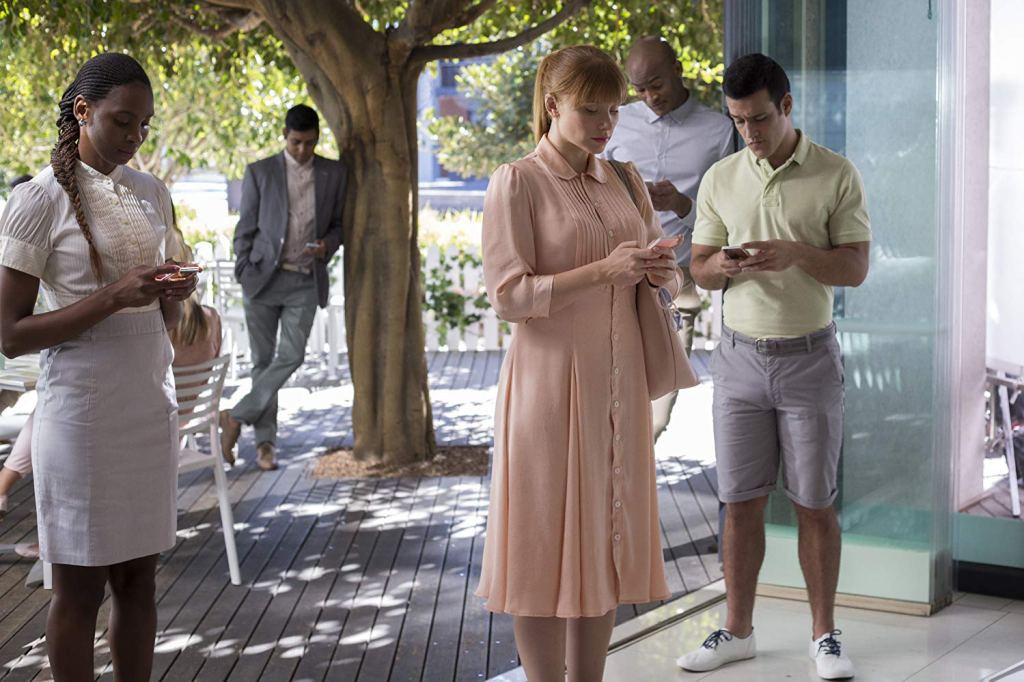 Still from Black Mirror episode 'Nosedive' starring Bryce Dallas Howard.