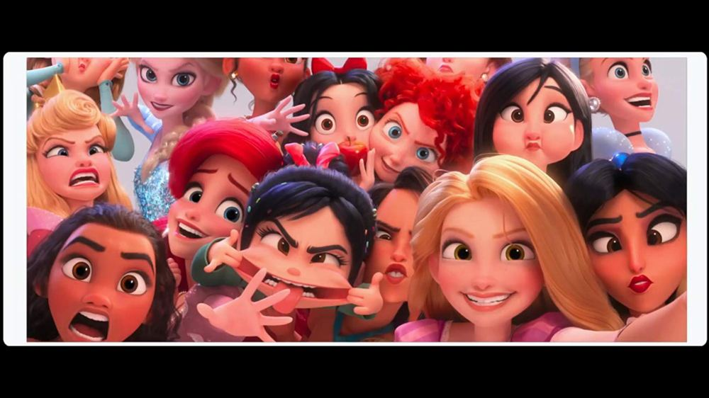 A polaroid picture of all Disney Princesses, taken from Ralph Breaks The Internet.