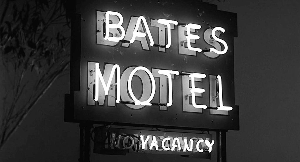 Bates Motel sign from the 1960 film 'Psycho'
