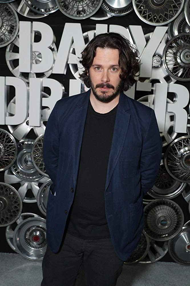 Director Edgar Wright at an event for his 2017 film 'Baby Driver'
