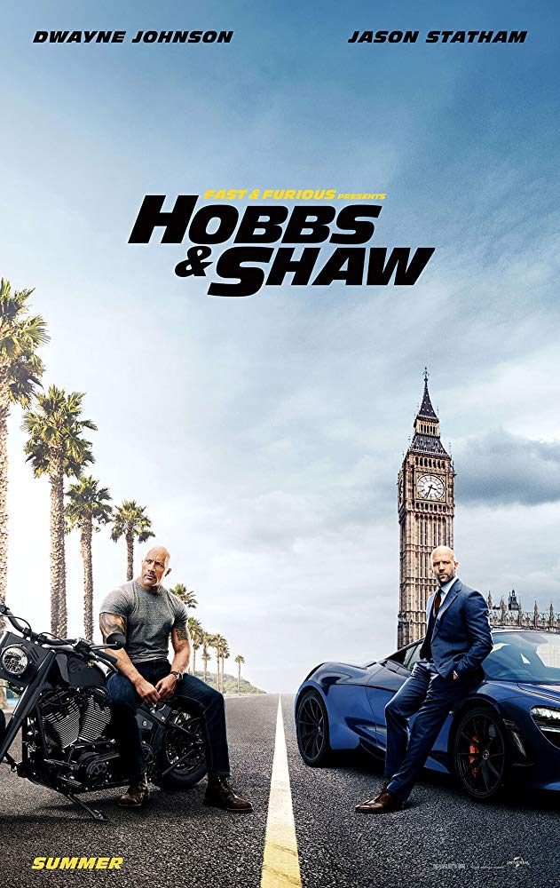 Fast & Furious Present: Hobbs & Shaw movie poster.