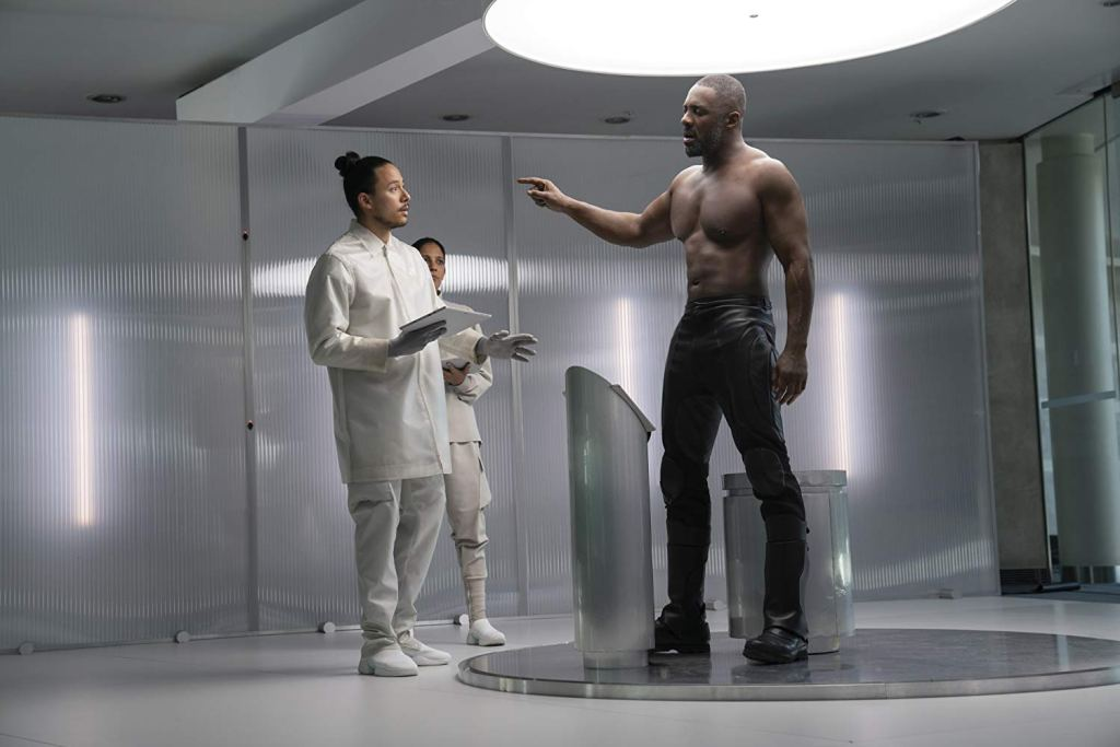 Idris Elba as Brixton, a genetically engineered super-villain in Fast & Furious presents: Hobbs & Shaw.