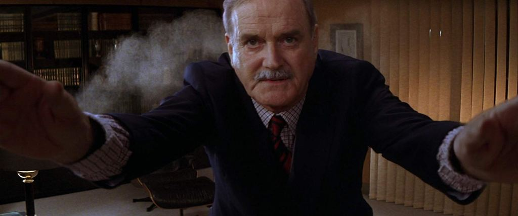 John Cleese as Q in 'Die Another Day'
