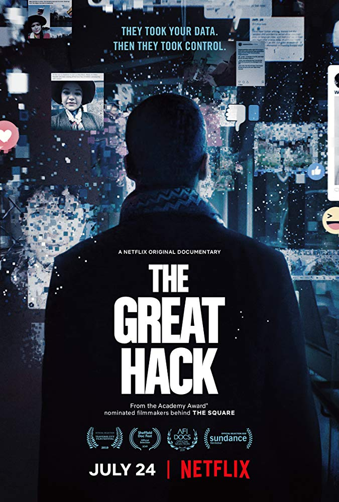 Poster for Netflix documentary 'The Great Hack' (2019)