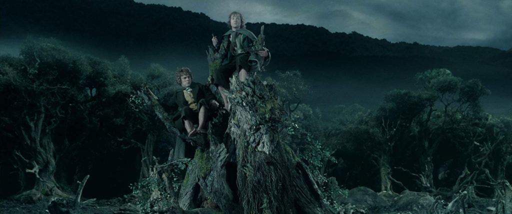 Merry, Pippin and Treebeard - The Lord of the Rings: The Two Towers