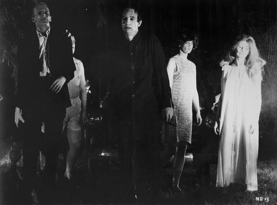 Movie still from the 1968 classic, 'Night of the Living Dead'.