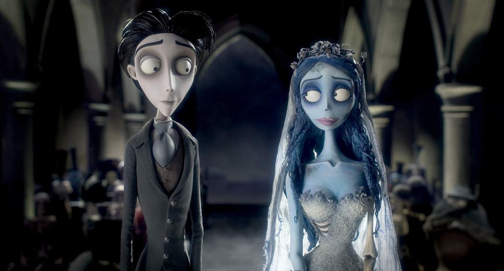 Victor and Emily in Tim Burton's 2005 film 'Corpse Bride'
