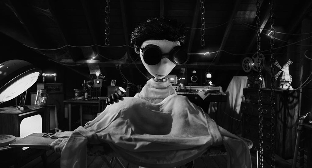 Young scientist, Victor, attempts to reanimate his pet dog, sparky in 'Frankenweenie (2012)