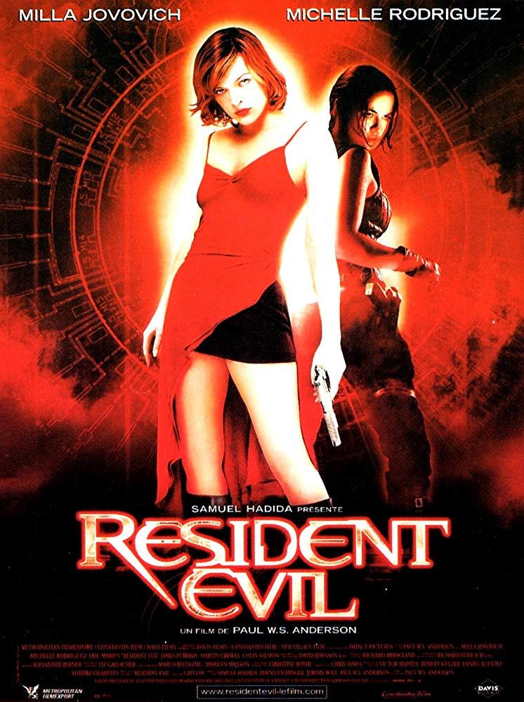 Movie poster for the 2002 film 'Resident Evil'