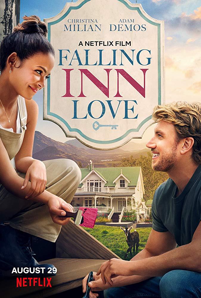 Movie Poster for the 2019 Netflix film, 'Falling Inn Love'