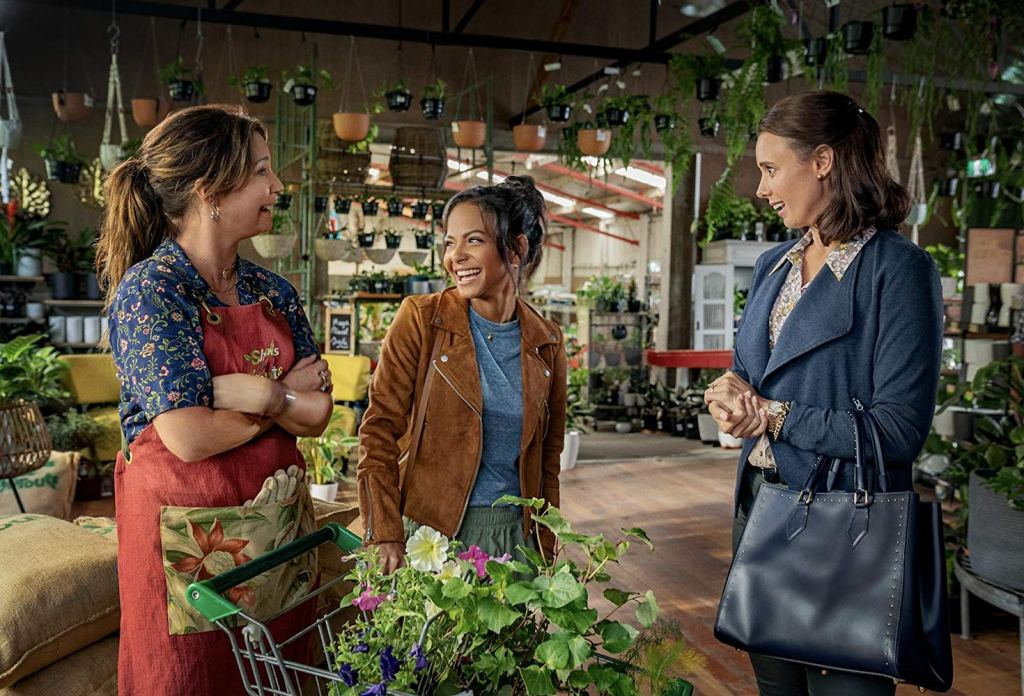 Claire Chitham, Christina Milian and Anna Julienne in the 2019 film 'Falling Inn Love'