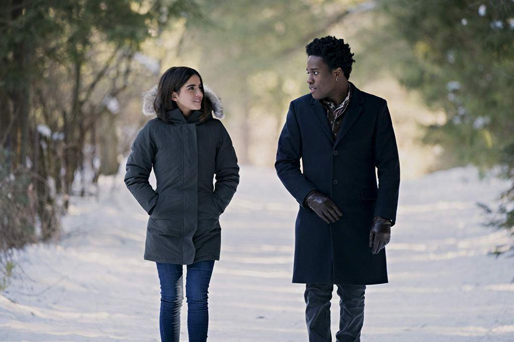 Isabela Merced and Shameik Moore in 'Let It Snow' (2019)