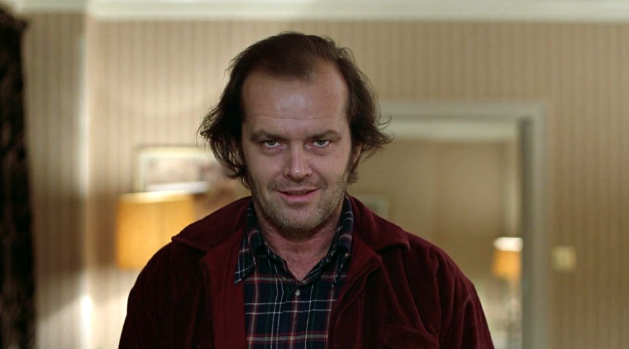 Jack Nicholson as Jack Torrence in the 1980 film, 'The Shining'.