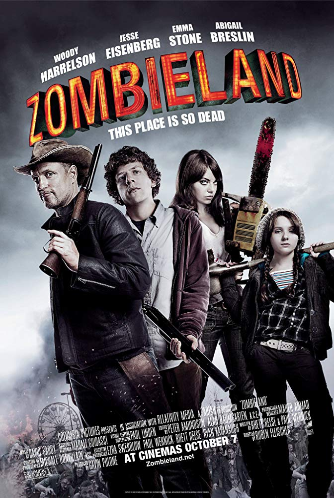 Movie poster for the 2009 film 'Zombieland'.