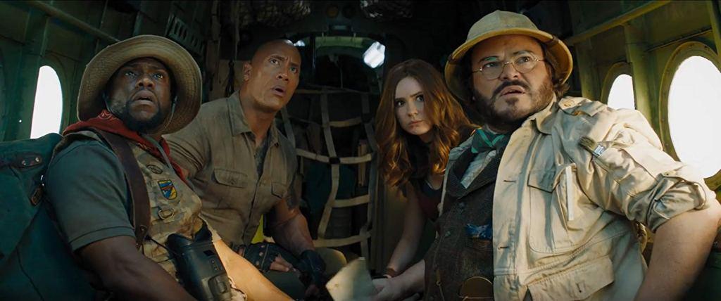 Kevin Hart, Dwayne Johnson, Karen Gillan, Jack Black in 'Jumanji: The Next Level' (2019)