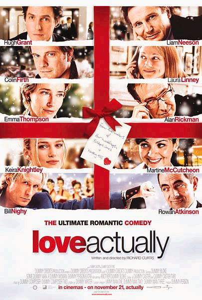 Poster for the 2003 Christmas movie 'Love Actually'.