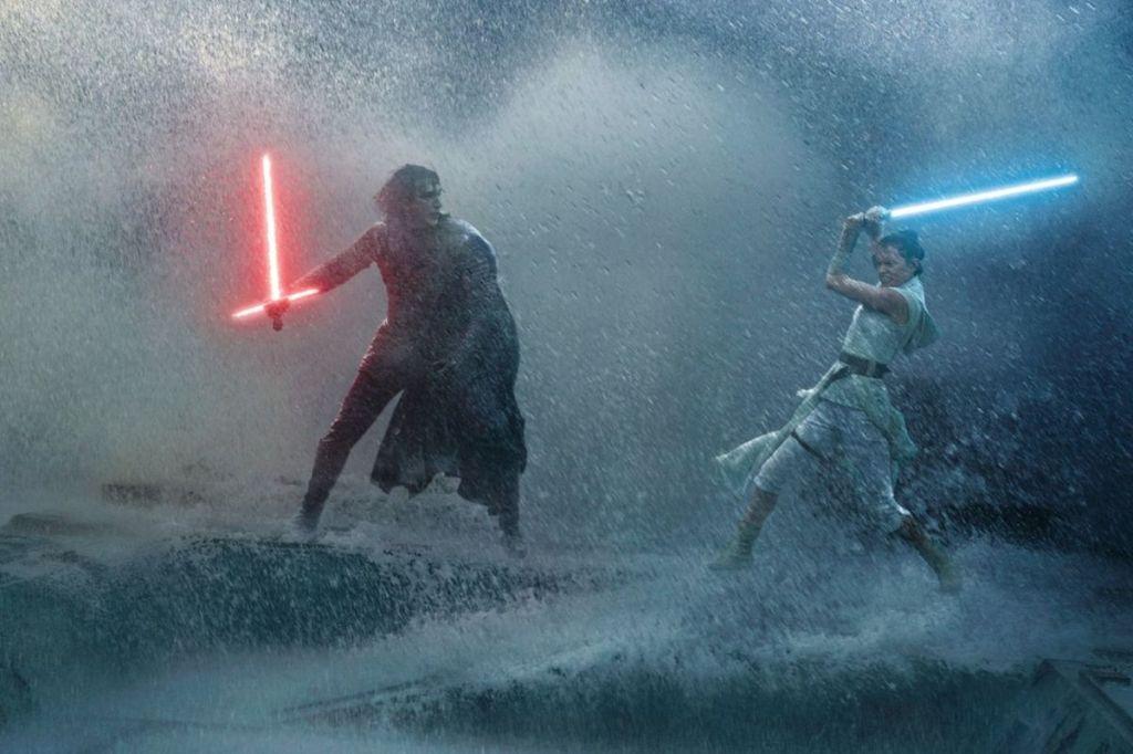 Kylo Ren fighting Rey in 'The Rise of Skywalker' (2019)