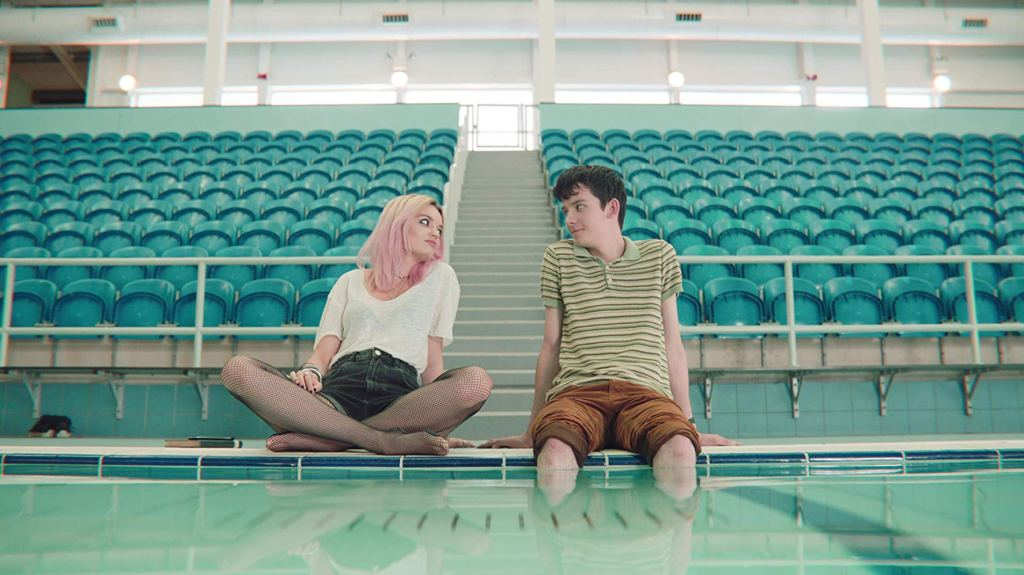 Emma Mackey and Asa Butterfield in Netflix series 'Sex Education'